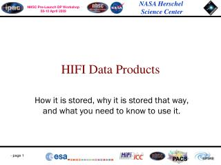 HIFI Data Products