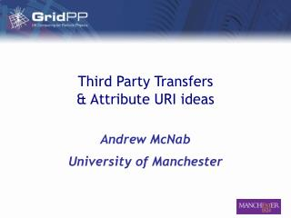 Third Party Transfers & Attribute URI ideas
