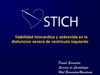 Viabilidad miocardica  y  sobrevida  en la  disfuncion severa  de  ventriculo izquierdo