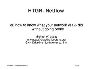 HTGR- Netflow