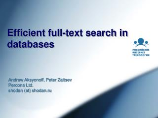 Efficient full-text search in databases