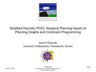 Stratified Heuristic POCL Temporal Planning based on Planning Graphs and Constraint Programming