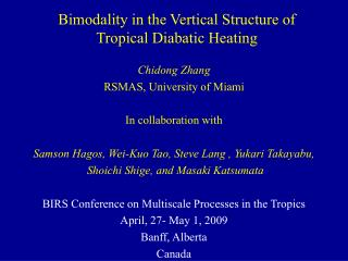 Bimodality in the Vertical Structure of  Tropical Diabatic Heating