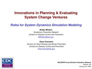 Innovations in Planning & Evaluating  System Change Ventures