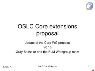 OSLC Core extensions proposal