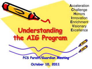 Understanding the AIG Program