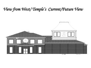 View from  West/  Temple's   Current/Future  View