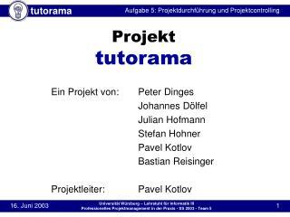 Projekt tutorama