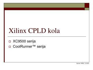 Xilinx CPLD kola