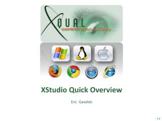 XStudio Quick Overview   Eric  Gavaldo
