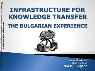 Vanya Grashkina Olga Racheva NACID, Bulgaria