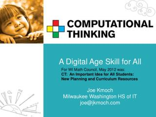 A Digital Age Skill for All