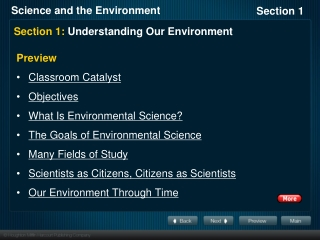 Section 1: Understanding Our Environment
