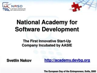 National Academy for Software Development