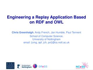 Engineering a Replay Application Based on RDF and OWL