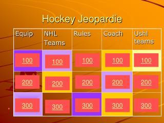 Hockey Jeopardie