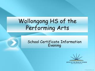 Wollongong HS of the Performing Arts
