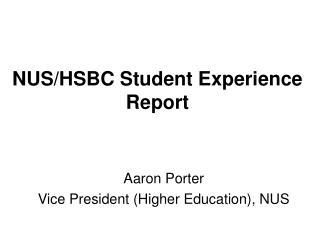 NUS/HSBC Student Experience Report