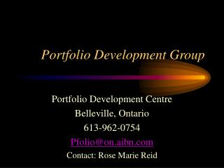 Portfolio Development Group