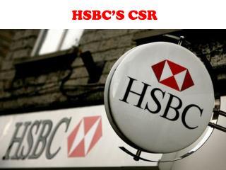 HSBC ' S CSR