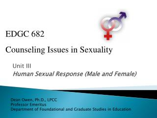 Unit III Human Sexual Response (Male and Female)