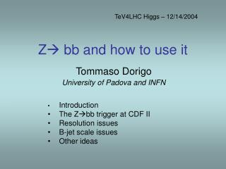 Z  bb and how to use it