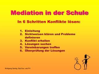 Mediation in der Schule