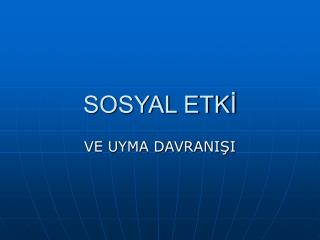 SOSYAL ETKİ