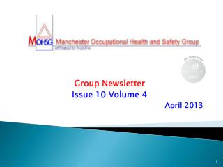 Group Newsletter Issue 10 Volume 4 April 2013