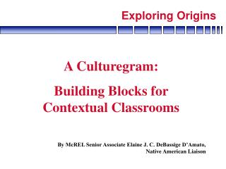 A Culturegram:  Building Blocks for Contextual Classrooms