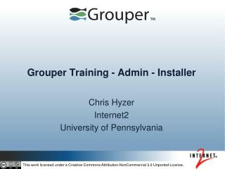 Grouper Training - Admin - Installer