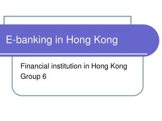 E-banking in Hong Kong
