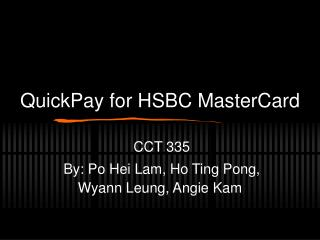 QuickPay for HSBC MasterCard