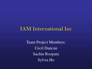IAM International Inc