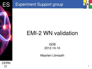 Experiment Support group