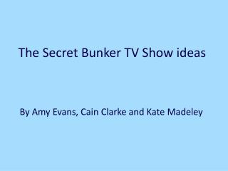 The Secret Bunker TV Show ideas