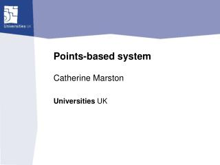 Points-based system