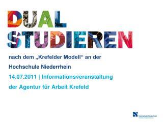 Die Hochschule Niederrhein – Ihr Partner für Bildung und Ausbildung in der Region