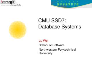 CMU SSD7:  Database Systems