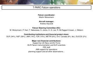 Falcon coordinator: Martin Weissmann Aircraft manager: Andrea Hausold