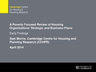 A Poverty Focused Review of Housing Organisations' Strategic and Business Plans: Early Findings