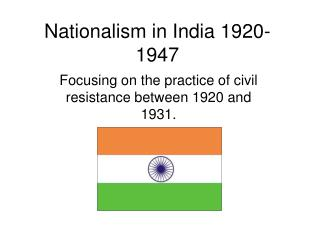 Nationalism in India 1920-1947