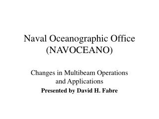 Naval Oceanographic Office (NAVOCEANO)