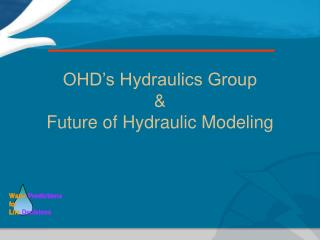 OHD's Hydraulics Group & Future of Hydraulic Modeling