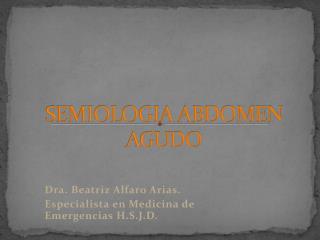 SEMIOLOGIA ABDOMEN AGUDO
