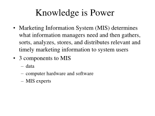 Secondary Data, Databases, The Internet, and Decision Support Systems