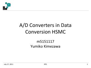 A/D Converters in Data Conversion HSMC