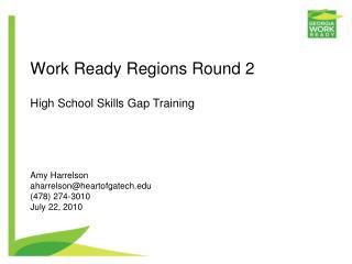 Work Ready Regions Round 2