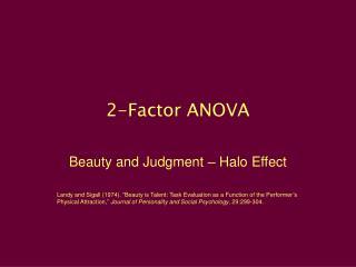 2-Factor ANOVA
