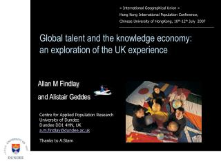 Global talent and the knowledge economy: an exploration of the UK experience